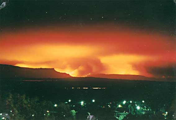 Sunset from Big Hill, 11 December 1998