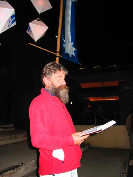 Gerry Tobin reads peter Freund's script, Sunday 7 December 2003