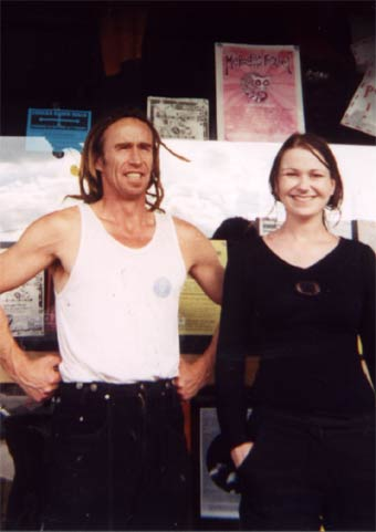 Kiri and Ian, two of the managers of Grainery Lane, Ballarat, 3 December 2003