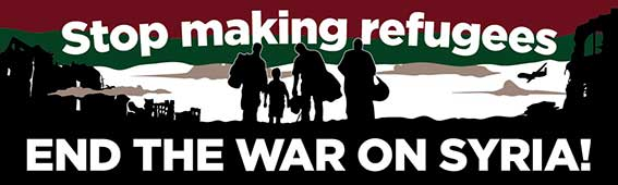 Image result for no war with syria